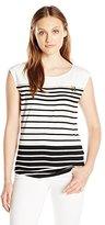 Calvin Klein Women's Varigated Stripe Top