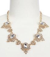 Natasha Accessories Spider Stone Frontal Necklace