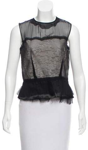 Maison Margiela Sleeveless Contrast Top w/ Tags