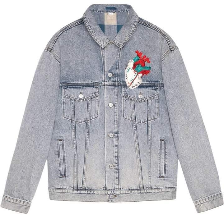52b4ec86026f Gucci(グッチ) ブルー メンズ デニムジャケット - ShopStyle(ショップスタイル)