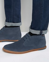 Frank Wright Strachan Chukka Boots Navy Suede