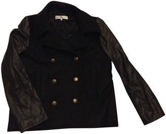 Gerard Darel Black Leather Coat for Women