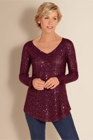 Petites Shimmer Sweater