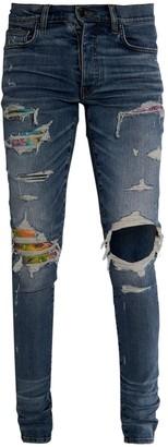 Amiri Hawaiian Patch Cotton Denim Jeans