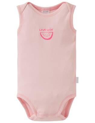 Schiesser Baby Girls Body 0/0 Footies Red (ROSe 506) (Size: 68 cm)