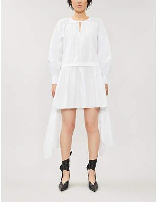 J.W.Anderson Raglan-sleeve flared-skirt cotton midi dress