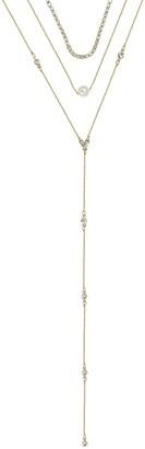 Ettika Gold Tone Acrylic Pearl, Glass Pearl & Crystal Necklace - Set of 3