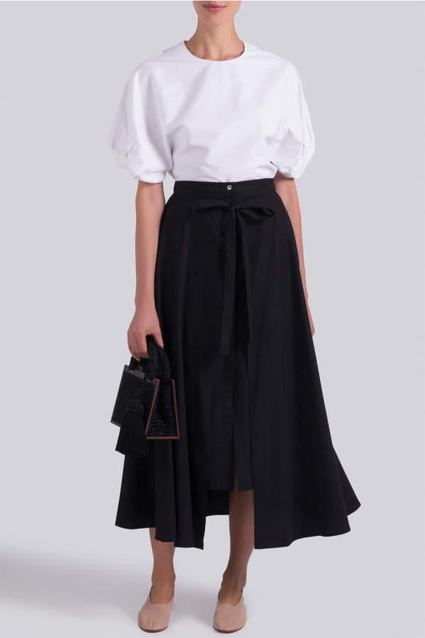 Rosetta Getty Apron Wrap Skirt