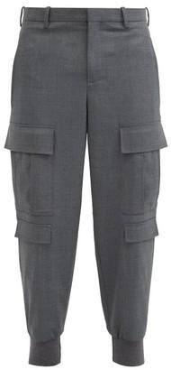 Neil Barrett Cargo-pocket Cuffed Stretch-gabardine Trousers - Grey