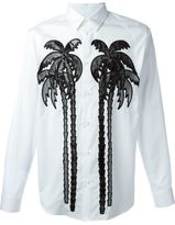 DSQUARED2 palm tree print shirt - men - Cotton/Polyamide/Polyester - 48