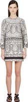 Giambattista Valli White Embroidery Print Dress