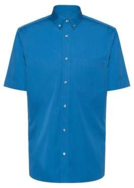 HUGO Relaxed-fit short-sleeved shirt with button-down collar