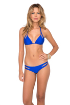 Luli Fama L176551) Cosita Buena Rever. Zig-Zag Open Side Mod.bttom In Electric Blue