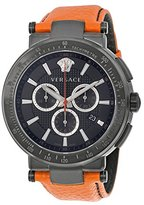 Versace Men's VFG030013 Mystique Sport 46mm Black Ion-Plated Coated Stainless Steel Chronograph Tachymeter Date Watch