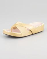 Taryn Rose Argyle Stretch-Strap Thong Sandal
