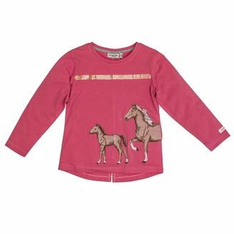 Salt&Pepper Salt and Pepper Girls' Horses Fohlen Applikation Pailletten Longsleeve T-Shirt