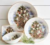 Pottery Barn Nostalgic Tree Dinner Plate, Set of 4