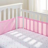 BreathableBaby Mesh Crib Bumper - Breathable, Hypoallergenic Fabric (Pink Mist) by