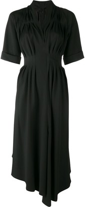 Adam Lippes Asymmetric Gathered Midi Dress