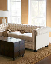 Old Hickory Tannery Ellery Chesterfield Queen Sleeper Sofa