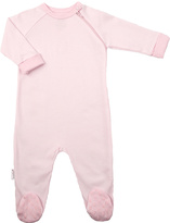 Kushies Pink Stripe Zip-Up Footie - Infant