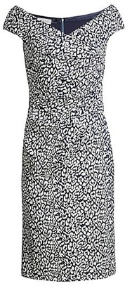 Teri Jon by Rickie Freeman Cap-Sleeve Shimmer Cocktail Dress