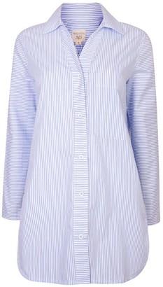 Nologo Chic Long Island Cotton Stripe Shirt - Atlantic Blue