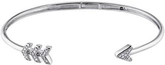 Stella Grace Sterling Silver 1/10 Carat T.W. Diamond Arrow Cuff Bangle Bracelet