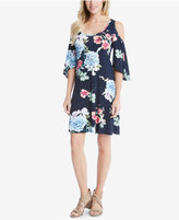 Karen Kane Floral-Print Cold-Shoulder Shift Dress