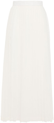 The Row Lawrence Pleated Crepe De Chine Midi Skirt