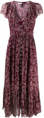 Tommy Hilfiger Embroidered Silk Maxi Dress
