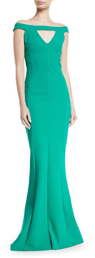 Chiara Boni Delina Cutout Mermaid Gown