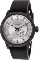 Lucien Piccard Men's LP-12550-BB-02S-BK - Black Silicone/Silver Tone Wrist Watches