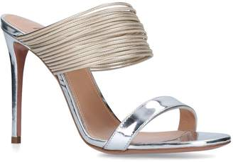 Aquazzura Metallic Leather Rendez Vous Sandals 105