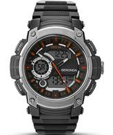 Sekonda Men's Digital Watch with Black Dial Digital Display and Black Plastic Strap 1160.05