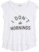 Ten Sixty Sherman I Don't Do Mornings Graphic Tee (Big Girls)