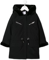 Givenchy Kids embroidered logo duffle coat