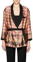 Giada Forte Women's Multi-Print Silk Twill Belted Blazer