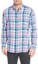 Tommy Bahama Men's Big & Tall Romario Plaid Linen Sport Shirt