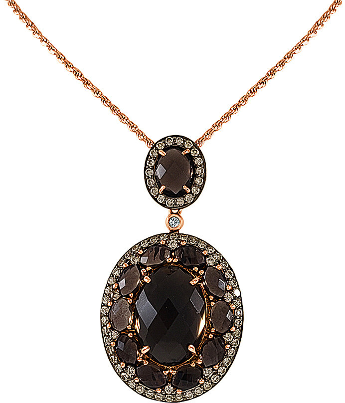 Sterling Silver Cone Genuine Single Simple Smoky Quartz Jewelry Natural Smoky Quartz Necklace