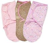Summer Infant 3 Pack Cotton Knit Swaddleme, Small/Medium, Pink Wonder