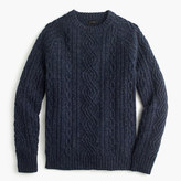 J.Crew Lambswool cable crewneck sweater