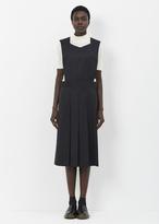 Comme des Garcons black bib-front jumper dress