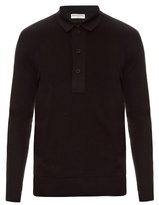 Balenciaga Layered Cotton-knit Polo Shirt