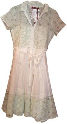 Max Mara White Cotton Dress for Women