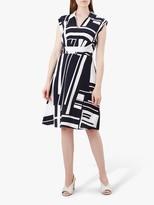 Hobbs Tahlia Dress, Navy/Ivory