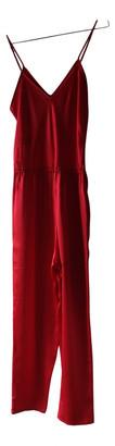 Mes Demoiselles ... Red Silk Jumpsuits