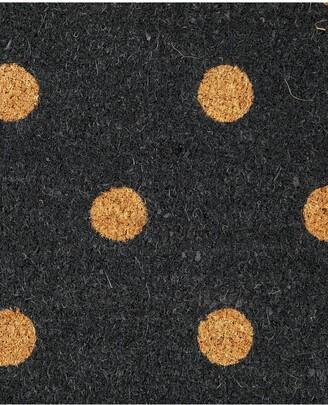 Polka Dot Coir Doormat