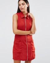 AX Paris Zip Front Pocket Dress