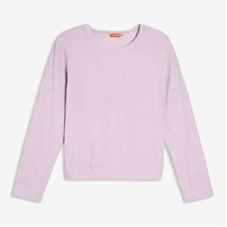 Joe Fresh Women's Corduroy Velour Top, Lavender (Size S)